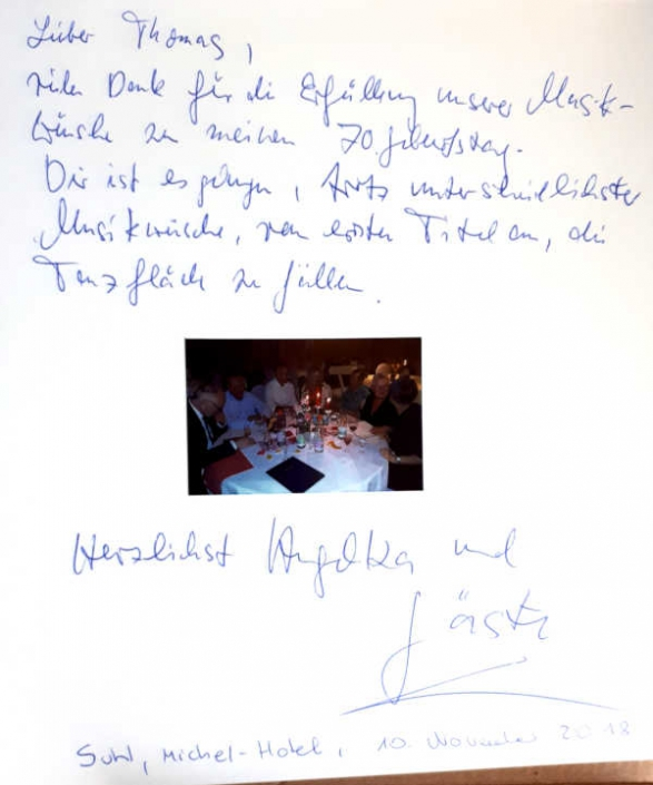 Geburtstagsfeier Michel-Hotel Suhl Thüringen